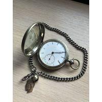 Карманные часы John Salter резной механизм, серебро эмали!