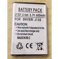 Новый аккумулятор 600 maH 3.7В. Для Sony Ericsson J132. Литий-ионный. Батарея АКБ. 600maH маЧ, 3.7 V В