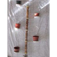 Распорная от пола до потолка подставка для  11 (12)-ти цветочных вазона
