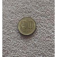 Колумбия 20 песо 2005 UNC