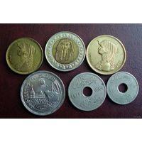 Египет. 6 монет 1917-2005 г.
