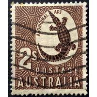 Австралия. Крокодил. 1948. Исскуство аборигенов Австралии. (Scott A52) в/з