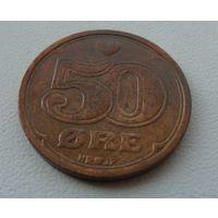 50 эре Дания 1989 г.в. KM# 866.1, 50 ORE, из коллекции