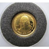 Виргинские острова. 10 долларов 2006. Пруф. Золото. 2