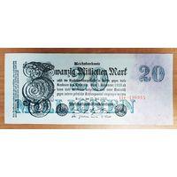 20 000 000 (20 миллионов) марок 1923 года (июль) - Германия - XF-AUNC