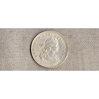 США 1 доллар  1800 /точная копия серебрение(Nv)