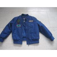 Куртка бомбер (ветровка) для мальчика 104-110