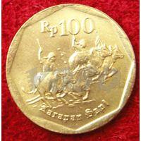 7752:  100 рупий 1998 Индонезия