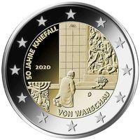 2 евро 2020 Германия  Коленопреклонение в Варшаве A UNC из ролла