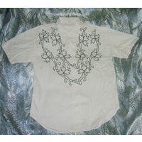 Рубашка C&A с вышивкой для девочки р.146 х/б