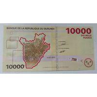 Бурунди 10000 франков 2015 года UNC