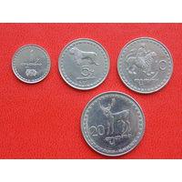Грузия  набор монет 4 шт.  1993г.