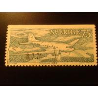 Швеция 1972 самолет Дуглас
