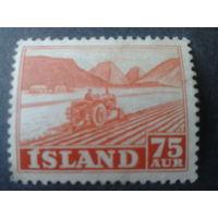 Исландия 1952 трактор