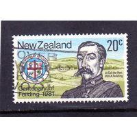 Новая Зеландия. Ми-816. Столетие Филдинга. Герб города. 1981.