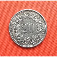 Швейцария, 20 раппенов 1970 г. Распродажа!