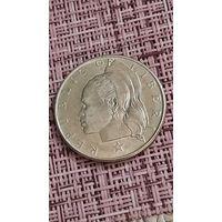 Либерия 50 центов 1961 г  серебро