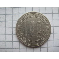 Габон 100 франков 1972г.