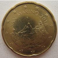 Сан-Марино 20 евроцентов 2018 г.