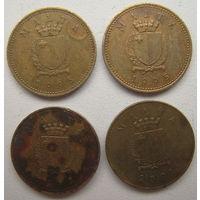 Мальта 1 цент 1995, 1998, 2001 гг. Цена за 1 шт. (g)
