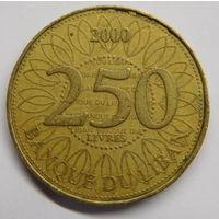 Ливан 250 ливров 2000
