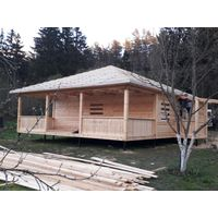 Построим Дом из профилированного бруса проект 9х9м