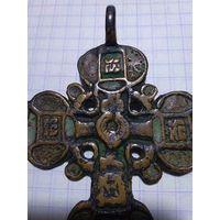 """Крест - Большой """" Казачий"""" наперстный крест 17-18 в ЭМАЛИ"""