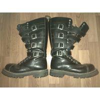 Ботинки Steel на 20 колец с ремнями на меху
