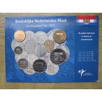Нидерланды годовой сет монет 2001 в оригинальном блистере - UNC