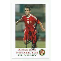 Krisztian Nemeth(Венгрия). Фотография с живым автографом #1