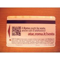 Италия билет на проезд в метро Рима