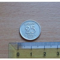 Швеция, 25 эре, 1954 г., биллон