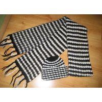 Шапка+шарф для зимы