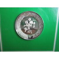 США. Franklin Mint 1979. 925пр. 11гр.  Серебряное блюдце W .      S.6