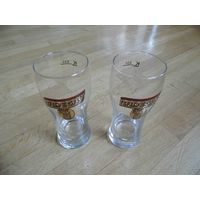 Бокалы пивные 2 шт х 0,3 л + Бонус (подставки под пиво). Чехия.