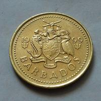 5 центов, Барбадос 1999 г.