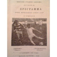 1989 год Динамо Минск--Черноморец Одесса--кубок федерации-1/4 финала