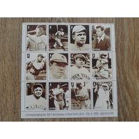 Гайана 1995 бейсбол малый лист