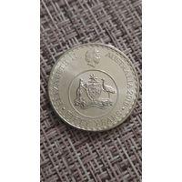 Австралия  20 центов 2016 года 50 лет с момента перехода на десятичную систему