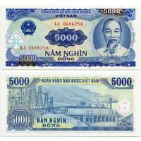 Вьетнам. 5000 донгов (образца 1991 года, P108, UNC)