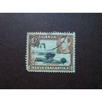 Британская колония Кения , Уганда, Танганьика 1938/49 гг.Номинал 1 шиллинг.