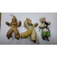 Ватные ёлочные игрушки одним лотом.