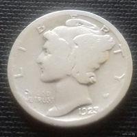 10 центов (дайм) США 1923 г., серебро