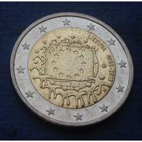Литва 2 евро 2015 Юбилей флага Евросоюза