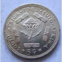 ЮАР 5 центов 1963 - серебро