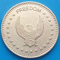Жетон NO CASH VALUE - FREEDOM -  игровой жетон с орлом 1- ый разновид