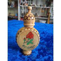 Духи болгарские Роза в деревянном флаконе.