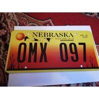 Автомобильный номерной знак США штат Небраска