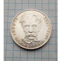 ФРГ 5 марок 1975г Альберт Швейцер  Серебро 0,625