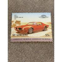 Сент-Винсент. Автомобили мира. Pontiac Firebird Trans Am 1973. Марка из серии